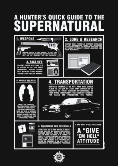 Supernatural guidebook fan gift idea from the show