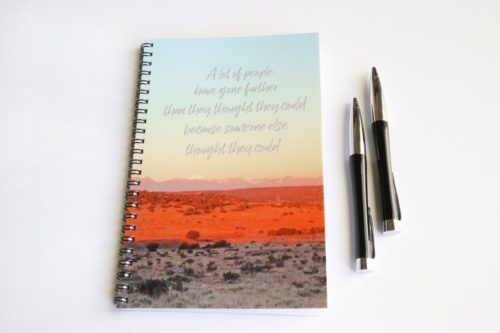 quote notebook gift for education mentors teachers gift