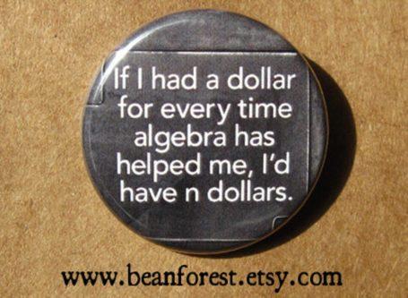funny algebra magnet geeky & nerdy stocking stuffer ideas