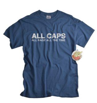 All caps funny adult nerd gift shirt