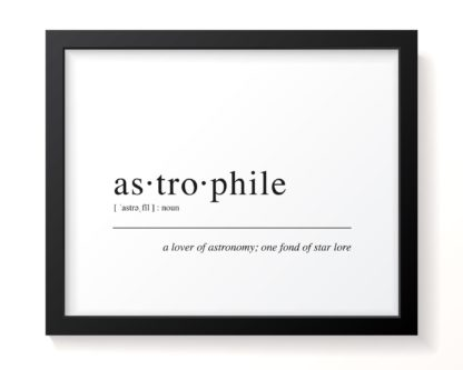 astrophile framed wall art pic