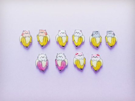 enamel anime earrings