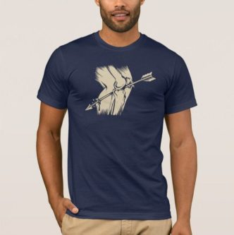 funny arrow in the knee meme shirt Skyrim humor gift