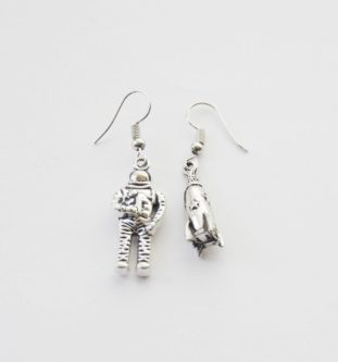 Astronaut ear rings