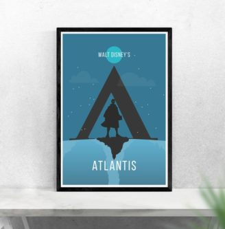 Atlantis Minimalist Movie Poster