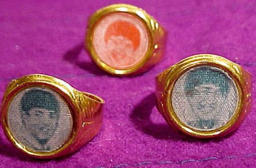 Authentic Collectible 1960's Beatles Rings