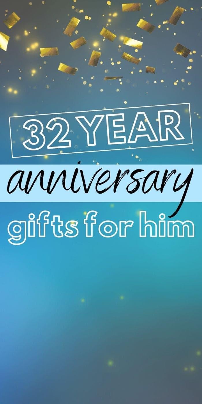 Best 32 Year Anniversary Gift Ideas for Him | Anniversary Gifts For Your Husband | Gifts For Your Man | Wedding Anniversary Gifts For Him | Creative Gifts For Your Husband | #gifts #giftguide #presents #husband #32nd #wedding #marriage #best #uniquegifter