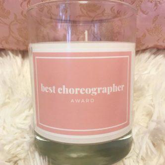 Best Choreographer Award Candle