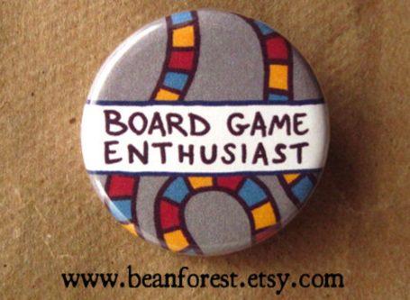 Custom board game pin geeky & nerdy stocking stuffer ideas