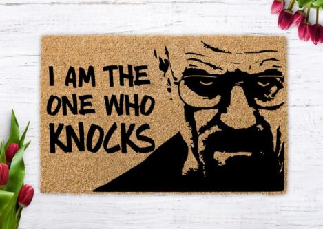 Breaking Bad Doormat - I am The One Who Knocks