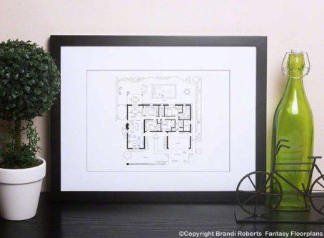 Breaking Bad Home Floor Plan