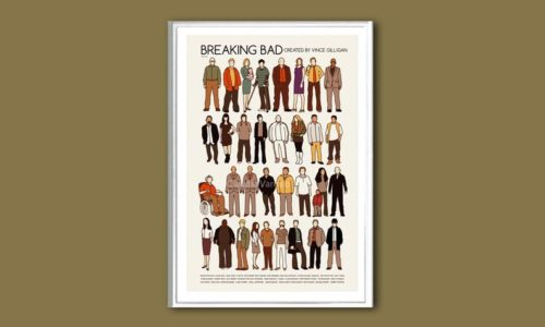 Breaking Bad (the cast) TV show print