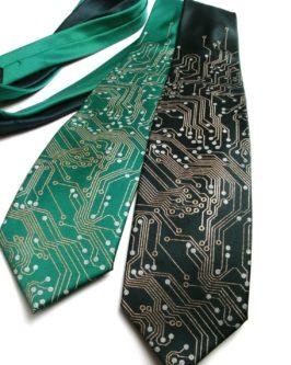 circuit board tie geeky & nerdy stocking stuffer ideas