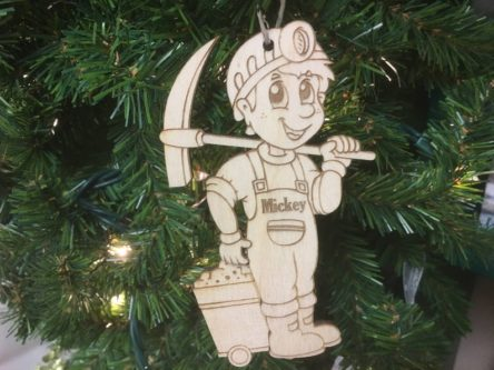 Coal Miner Personalized Christmas Ornament