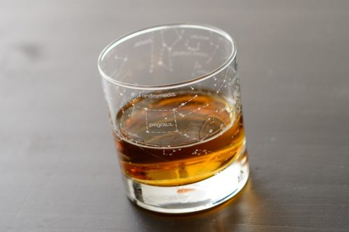 galaxy constellation rocks glass for whiskey