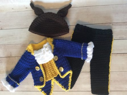 Crochet Baby Beast Outfit