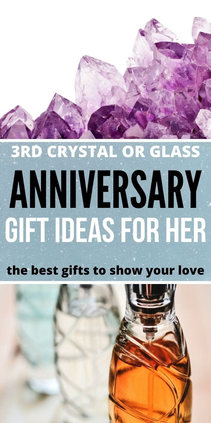 Glass Anniversary Gift Ideas | Crystal Anniversary Gift Ideas | Anniversary Gifts for Her | Gift Ideas for Her 3rd Anniversary | #anniversary #crystalanniversary #3rdanniversary #giftideas
