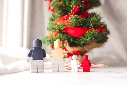 Custom made concrete lego figurines nerd gift for christmas