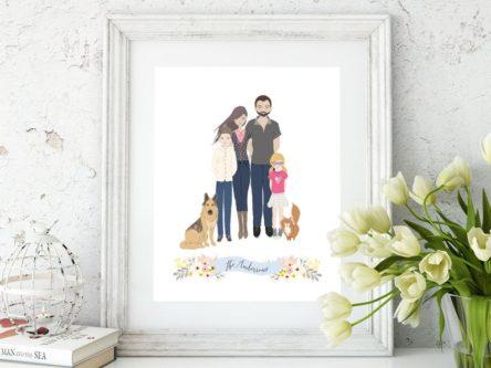 Custom Family Portrait Drawing