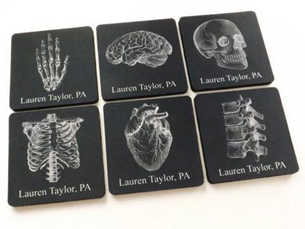 Custom Name Anatomy Coasters