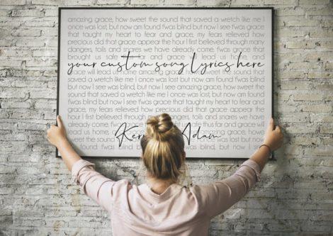 Custom Song Lyrics Wall Art