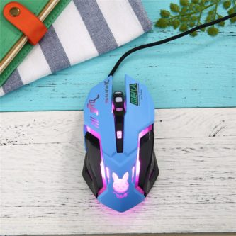 D.VA gaming mouse light up gamer gear