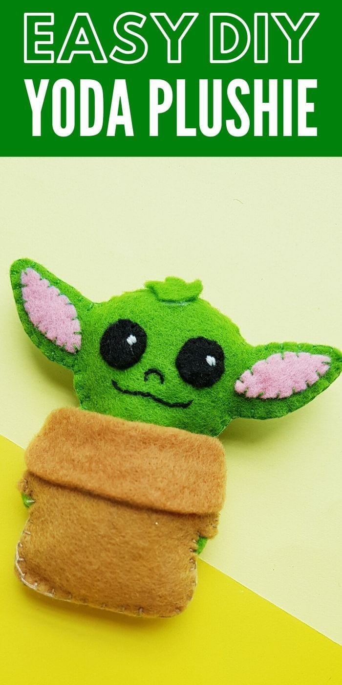 The Cutest DIY Yoda Plushie | Yoda Craft Idea | Easy Baby Yoda Craft | Adorable Craft With Baby Yoda | Adorable DIY Yoda Plushie Craft | #craft #gift #easy #kids #adult #DIY #creative #yoda #babyyoda #uniquegifter