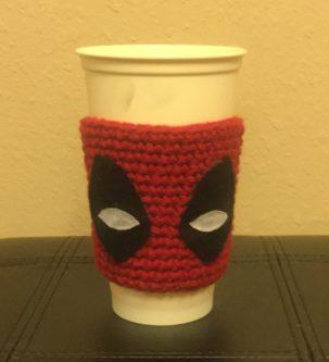 deadpool cup cozy handmade nerd gift
