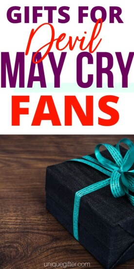 Devil May Cry Gifts | DMC Gifts | Nerd Gift Ideas | Videogame gift ideas | Gaming Gifts | Dante Character Gifts | Cosplay Gift Ideas | #dmc #devilmaycry #dante #vergil #gaming #gifts