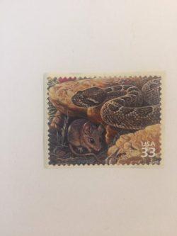 Diamondback Rattlesnake Postage Stamp