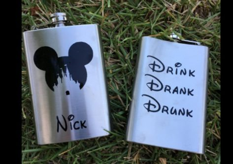 Drink Drank Drunk Disney Flask