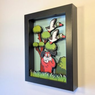 Duck Hunt 3D Shadow Box