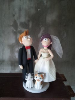 Fry And Leela Wedding Cake Toppers