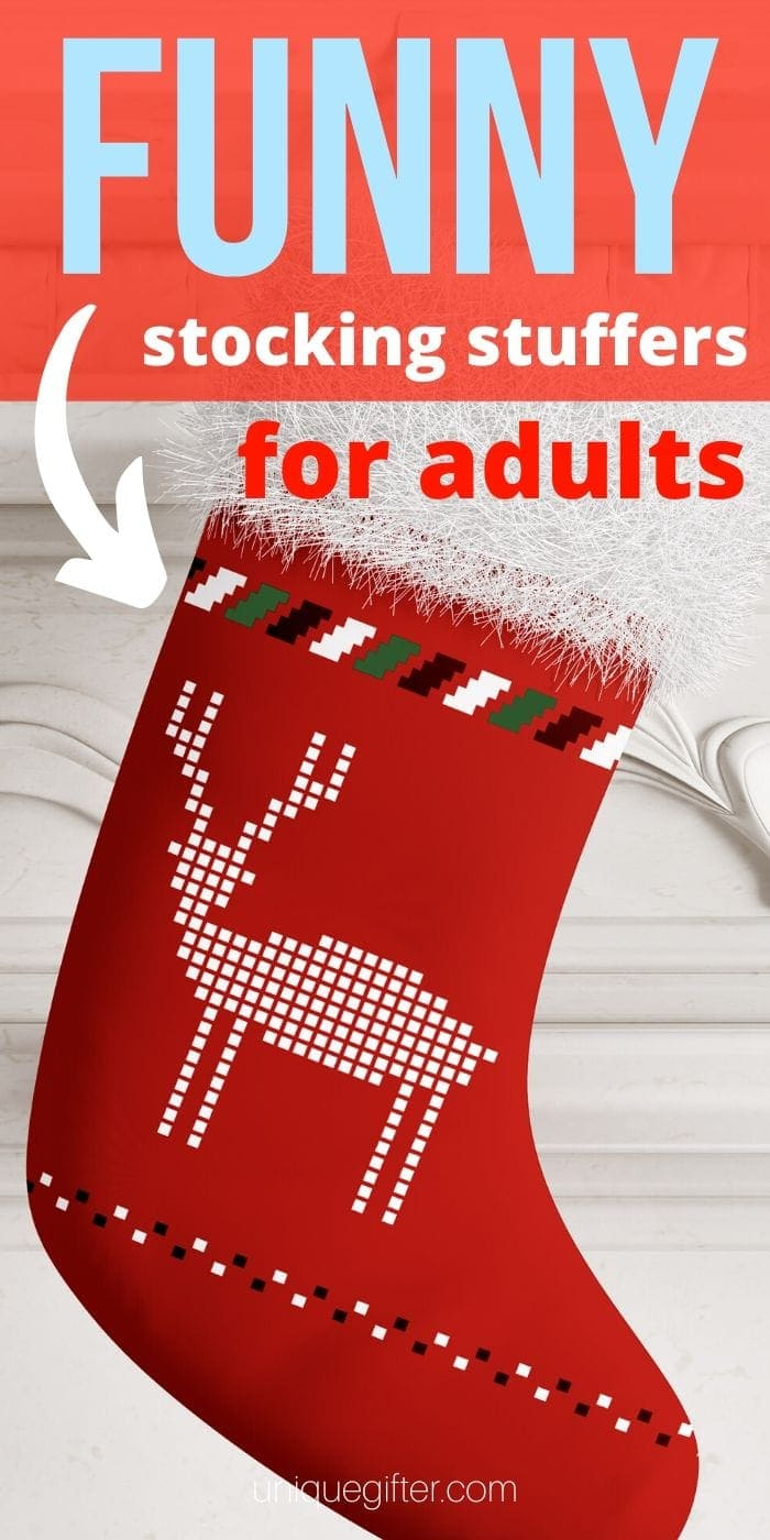 Funny Adult Stocking Stuffer Gift Ideas | Funny Adult Stocking Stuffers | Adult Themed Gifts | Adult Funny Holiday Gifts | Funny Crude Adult Gifts | Hilarious Adult Holiday Gift Ideas | #adultgifts #giftideas #holidays #christmas #stockingstuffers