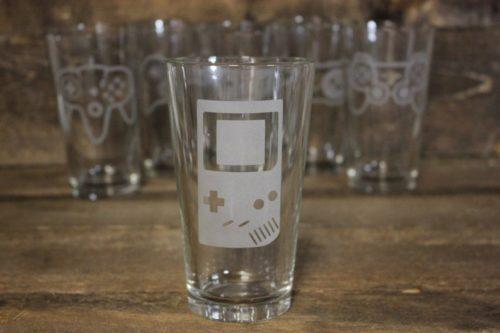Gameboy Pint Glass