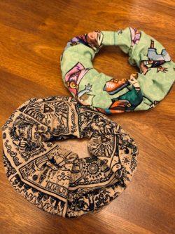 Geeky handmade scrunchies nerd gift ideas