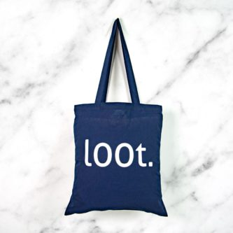 Loot geeky shoulder tote bag gift for nerds