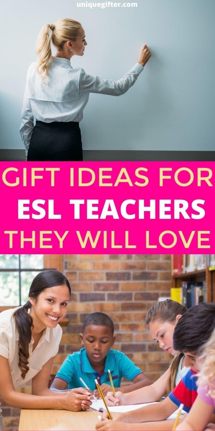 Best Gift Ideas for ESL Teachers | Teacher Gifts | Teacher Presents | ESL Teacher Presents | Creative Gifts For ESL Teachers | #gifts #giftguide #presents #teacher #esl #uniquegifter