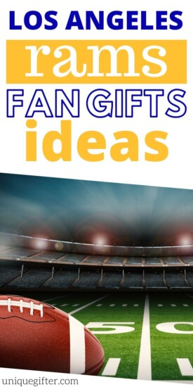 Best Gift Ideas for Los Angeles Rams Fan | Rams Fanatics Will Love These Presents | Gifts For Anyone Who Is A Rams Fan | #gifts #giftguide #presents #rams #football #losangeles #uniquegifter