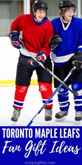 Best Gift Ideas for Toronto Maple Leafs Fan | Hockey Fan Gifts | Maple Leafs Gift Ideas | Creative Gifts For Hockey Fans | Toronto Sports Fans Gifts | #gifts #giftguide #canada #toronto #mapleleafs #uniquegifter