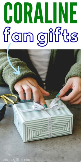 Coraline Gifts | Coraline book Gifts | Neil Gaiman Gifts | Gifts for Book Lovers | Gifts for Film Fans | #coraline #book #fangifts #giftideas #gifts