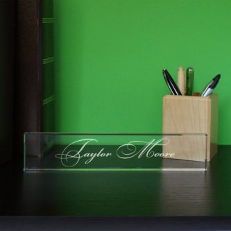 Glass Nameplate
