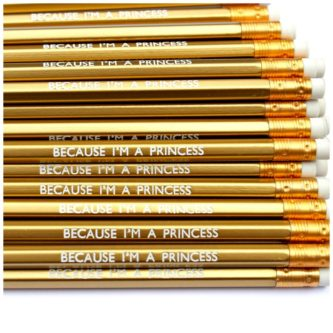 "Gold ""Princess"" Pencils"