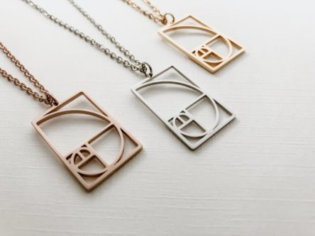 golden ratio necklace geeky & nerdy stocking stuffer ideas