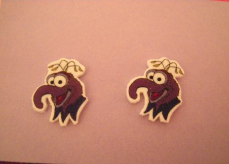 Gonzo Muppet Inspired Pierced Earrings