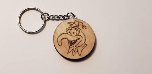 Gonzo Woodburnt Keychain