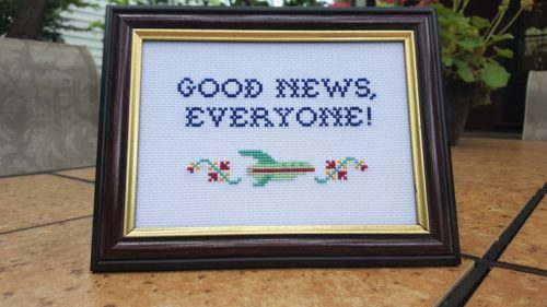 Good News Everyone Cross stitch
