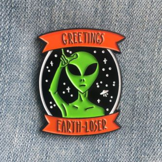 Greetings Enamel Pin