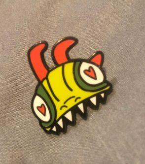 Heart Eye Murloc Pin
