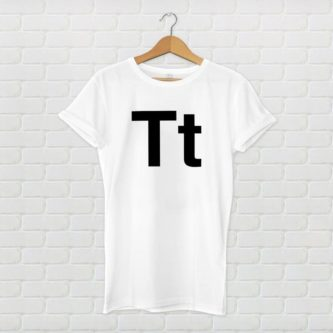 Helvetica Letter Shirt